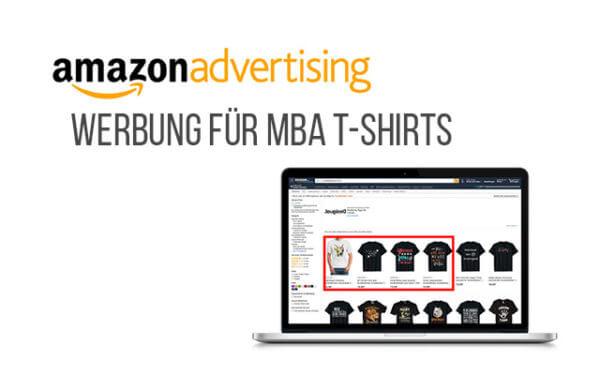 Werbung für Merch by Amazon Produkte